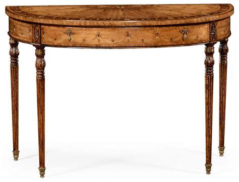 Walnut Demilune Console Table Demilune Sofa Table