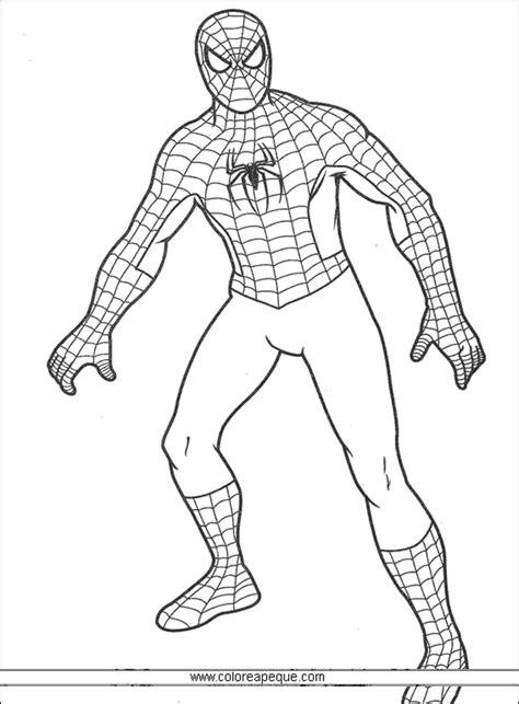 dibujos para colorear de spider man gratis free coloring pages of hombre ara 241 a negro