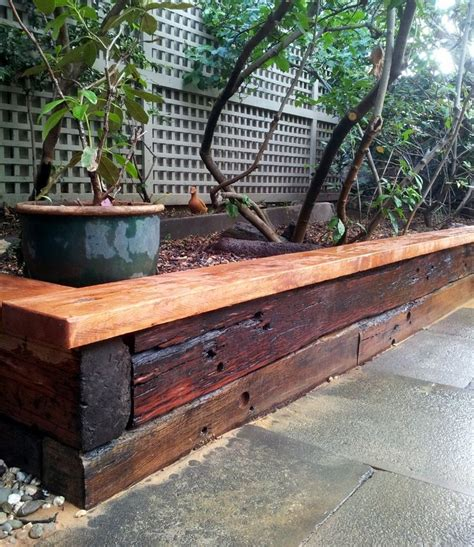 Sleeper Raised Garden Bed stained railway sleeper garden bed home design gardens raised beds and vegetables