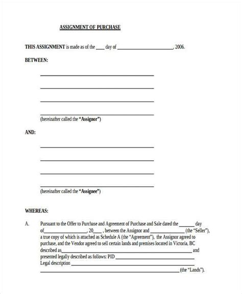 10 Assignment Agreement Form Sles Free Sle Exle Format Download Assignment Of Construction Contract Template