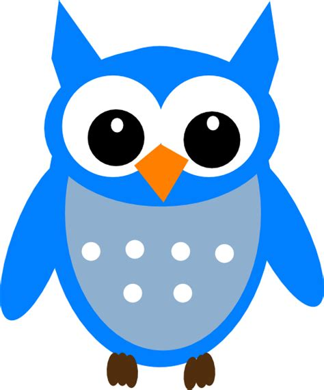 owl clipart free free blue hoot owl clip