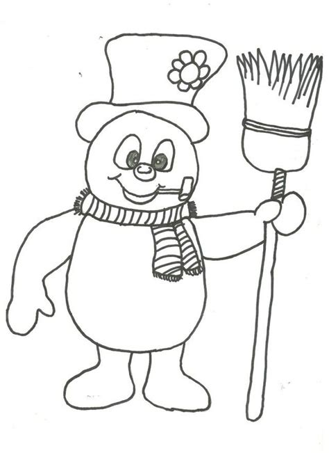 snowman coloring page pdf frosty the snowman coloring pages coloring book area best