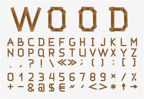 wood pattern font 12 free wood type font vector images wood alphabet