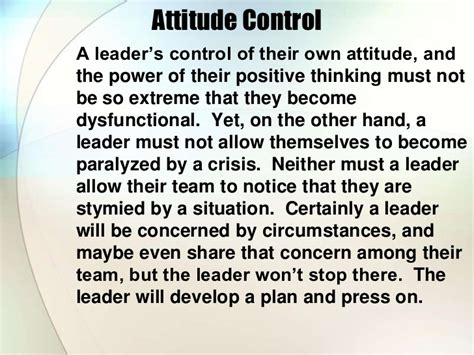Attitude Reflects Leadership Meme