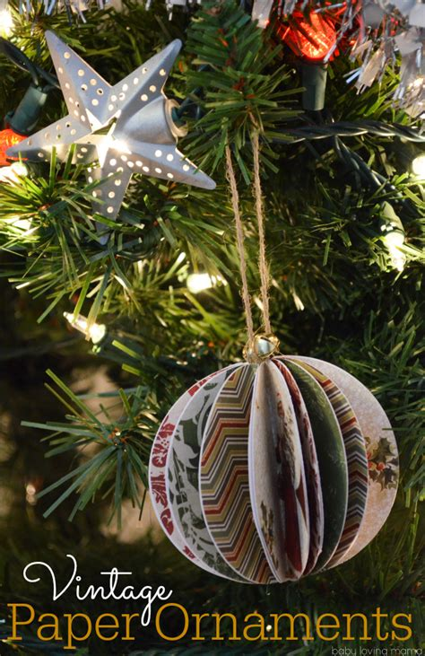 Paper Ornaments - diy vintage paper ornaments tutorial