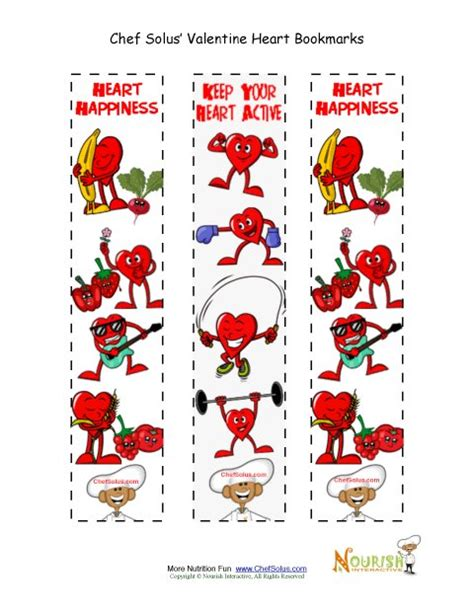 free printable nutrition bookmarks holiday 2 bookmarks colorful heart healthy fun
