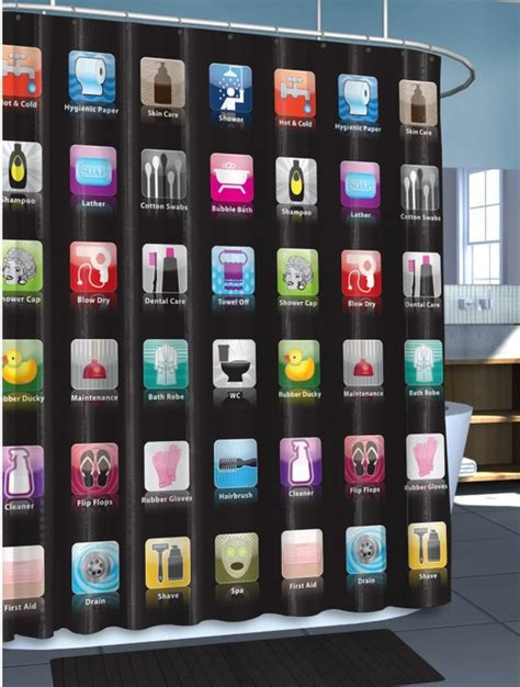screen curtain iphone cool shower curtains for your modern bathroom decozilla