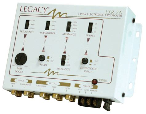 Kit 3 Way Sound Crossover Bass legacy car audio lxr2a 3 way stereo electronic crossover network w bass boost lxr2a