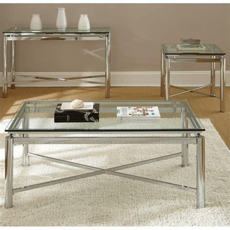 Steve Silver Co Churchill Sofa Table In Chrome Bed Bath Steve Silver Company 3 Cocktail Table Set In