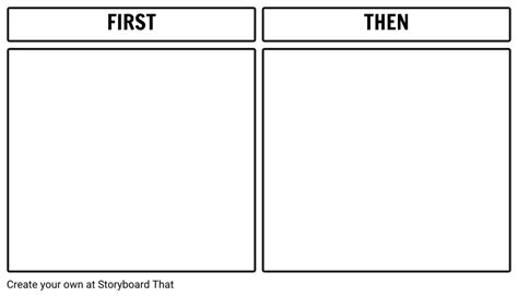 first then board printable template storyboard