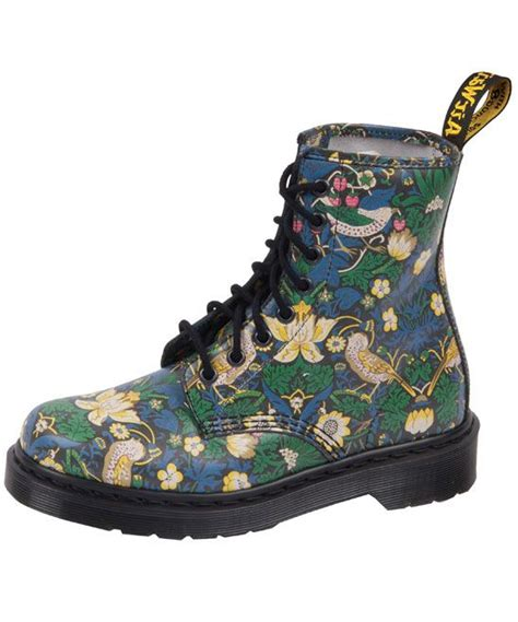 flower pattern doc martens dr martens strawberry thief liberty print 8 hole boots dr