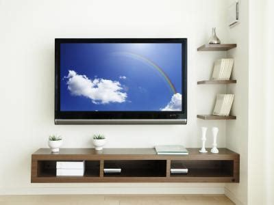 Tv On Shelf by Decorating Ideas For A Wall Mounted Television Modernmom