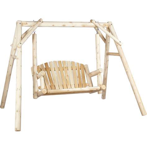 cedar log swings cedar log garden swing in swings