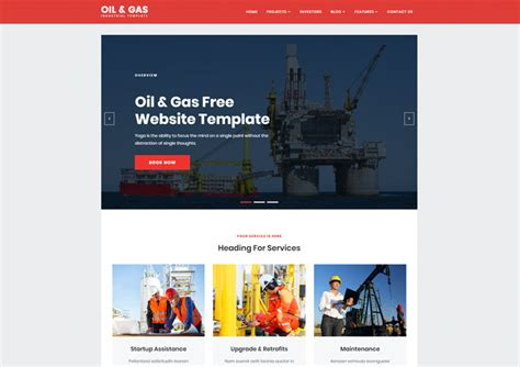 Industrial Archives Ease Template And Gas Company Website Template