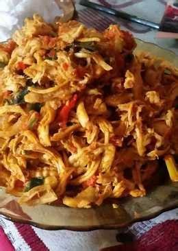 ayam suir pedas  resep cookpad