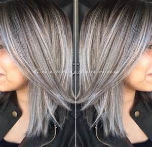 silver highlighted hair styles amazing grey silver highlights