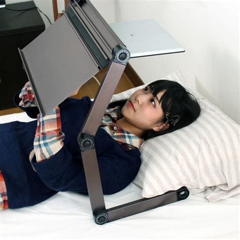 laptop holder for bed upside down gorone desk lets you use laptop while laying