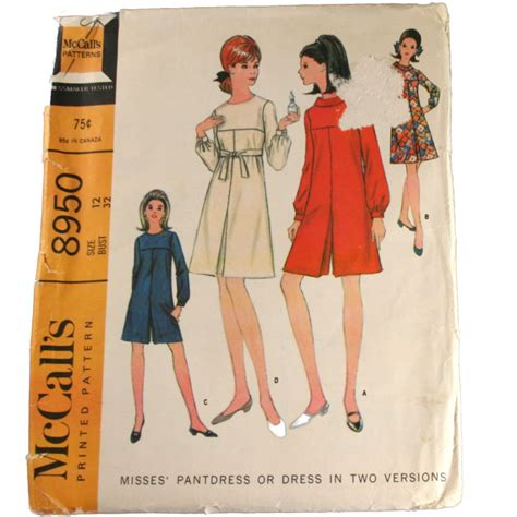 Flower Dress 8950 mccall s sewing pattern 8950 misses pantdress or dress in