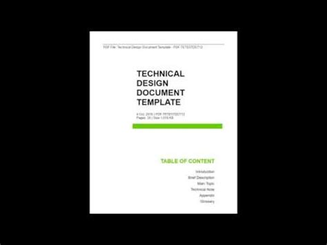 technical design document template technical design document template