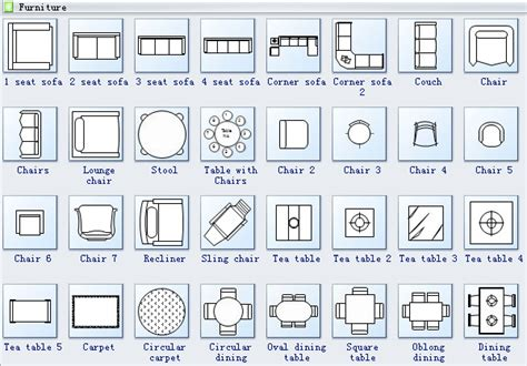 Furniture Icons For Floor Plans Floor Plan Design Software