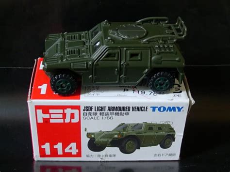 Tomica 114 Jsdf Light Armored Vehicle tomica 114 jsdf light armoured vehicle car die cast and wheels tomica 2014