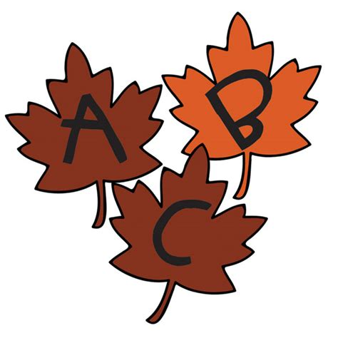 Printable Leaves With Letters | printable leaf alphabet