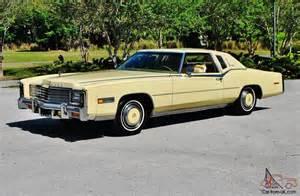 Yellow Cadillac Simply Stunning 1978 Cadillac Eldorado Biarritz