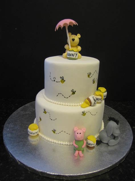 Pooh Baby Shower Cakes by Classic Pooh Baby Shower Cake Cakecentral