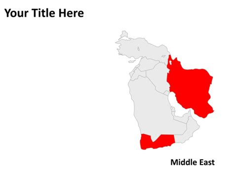 middle east map for powerpoint powerpoint slide map of middle east gray pl57