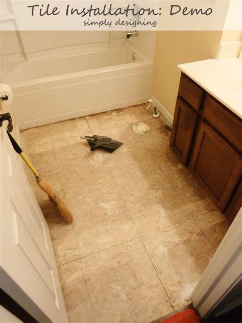 diy bathroom tile installation tile plan and demolition tile installation part 1