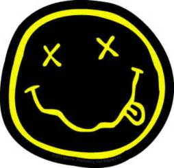 nirvana smiley face sticker