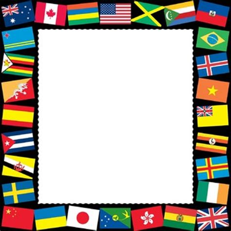 flags of the world border clipart borders and frames flags of the world borders and frames