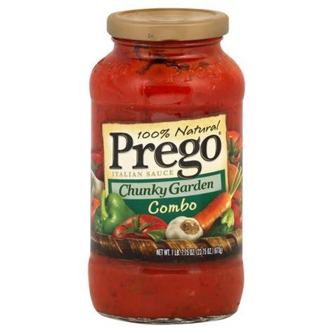 Prego Garden Vegetable Sauce Prego Chunky Garden Pasta Sauce Garden Combination