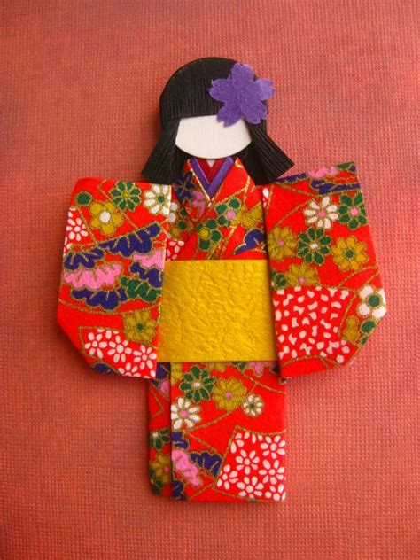 How To Make Japanese Origami - japanese origami paper doll eriko