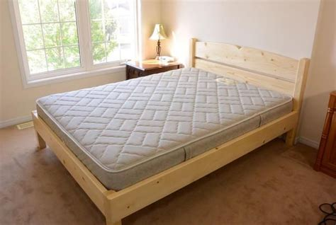 2x4 bed frame queen size bed from 2x4 lumber bed frames pinterest