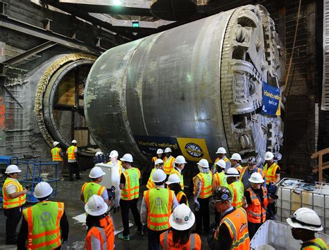canstruction project returns to underground nov 6 crenshaw lax line s tunnel boring machine officially