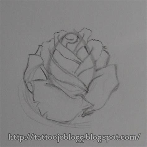 rose tattoo tutorial how to draw a simple style step by step