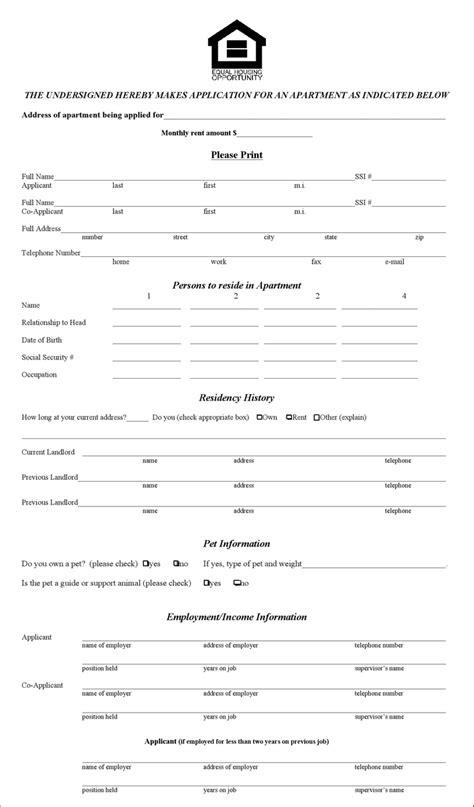 apartment rental application illinois rental application form for free formxls