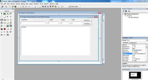 membuat database vb6 dengan access 2007 membuat program perpustakaan visual basic 6 dengan