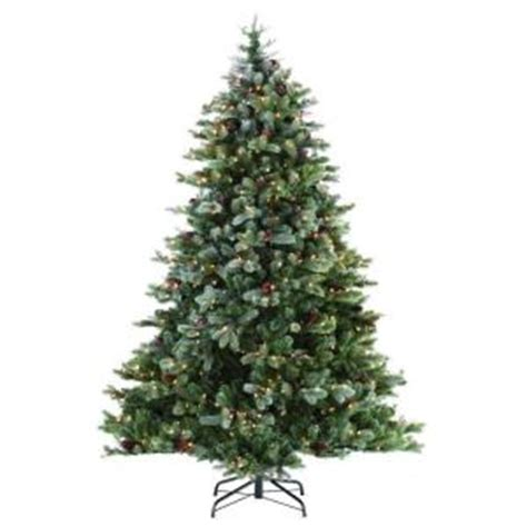 martha stewart living 9 ft indoor pre lit glittery bristle pine artificial christmas tree martha stewart living 9 ft indoor pre lit led frosted colorado spruce artificial tree