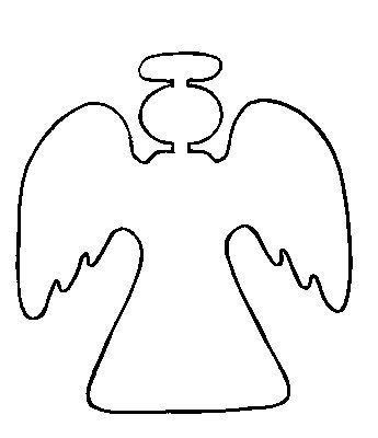 angel outline coloring page printable angel pattern for the home pinterest angel