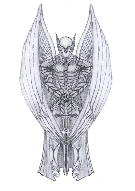 archangel tattoo design 20 archangel michael tattoos designs