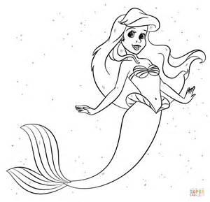 ariel mermaid coloring free