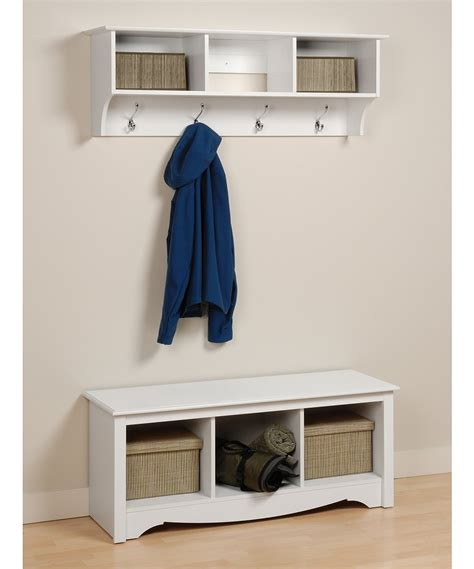 Entryway Shelf With Hooks White by Zulily 404 Zulily