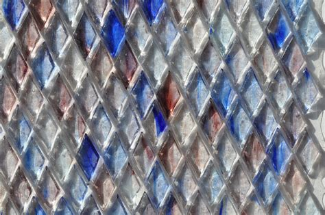 fusion brown pattern glass mosaic fusion glass blue lavender and white harlequin pattern 08l