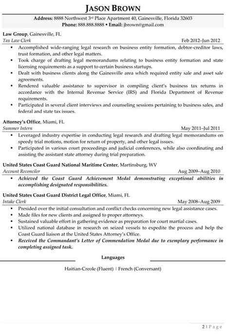 Resume Sles Paralegal Resume Exles Resume Professional Writers