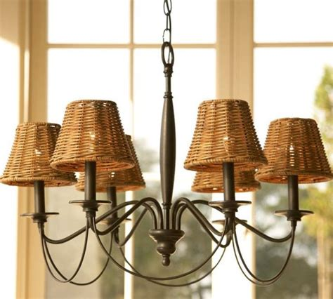 Chandelier L Shades Graham Wicker Chandelier