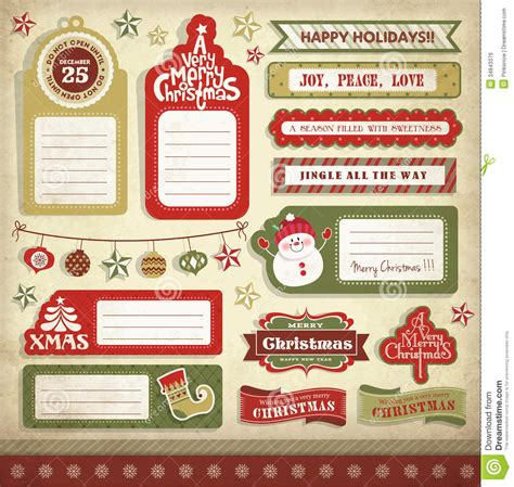 christmas design elements stock vector image  party