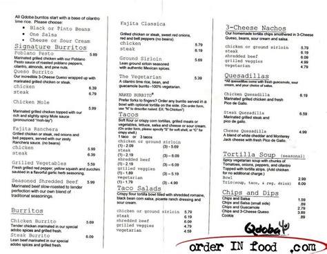 printable menu for qdoba best photos of printable mexican menus qdoba menu with