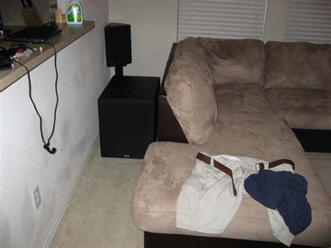 subwoofer behind couch subwoofer placement suggestion please pics svs ultra